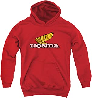 Honda Yellow Wing Logo Unisex Youth Pull-Over Hoodie for Boys and Girls
