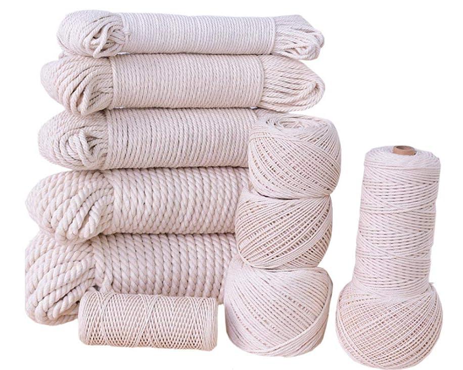 flipped Cotton Rope Cord Craft Macrame String DIY Handmade Tying Thread Macrame Cord Rope 1mm/900m,1.5mm/600m,2mm/350m,2.5mm/200m,3mm/180m,4mm/95m,5mm/60m,6mm/50m