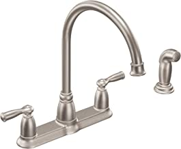 Moen CA87000SRS High-Arc Kitchen Faucet with Side Spray from the Banbury Collection, Spot Resist Stainless
