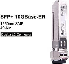 SFP+ 10GBase-ER Transceiver Module Compatible for Cisco SFP-10G-ER 1550nm, 40km Over SMF