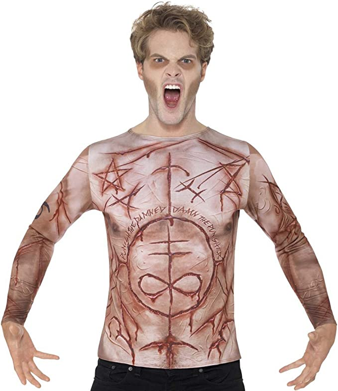 Amakando Camisa con heridas Camiseta pegada con ...