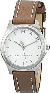 Marc Jacobs Women's Quartz Watch analog Display and Leather Strap, MJ1643