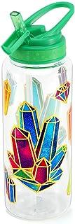 Cute Water Bottle with Straw for Girls Women, BPA FREE Tritan &Leak Proof & Carry Handle & Pretty Design, 32oz/950ml (Colo...