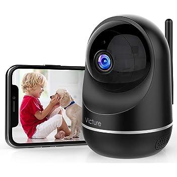 Victure Caméra Surveillance WiFi, Compatible avec WiFi 2.4Ghz / 5Ghz, Caméra WiFi Interieur 1080P, Caméra IP WiFi avec Détéction de Mouvement, Audio Bidirectionnel