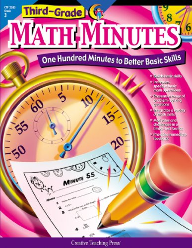 Creative Teaching Math Minutes, 3rd Grade activity workbook (One Hundred Minutes to Better Basic Skills) (The Best Vacation Ever K5 Learning Answers)