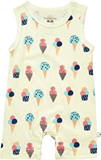 Babysoy Fruit Pattern Tank Romper Shortall (3T, Ice Cream)