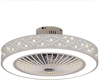 Ventilador De Techo Lámpara De Techo Moderna LED Invisible Ultra Silencioso Ventilador De Techo Control Remoto De Correa Regulable Decoración De Interiores Plafón De Techo Lluminación
