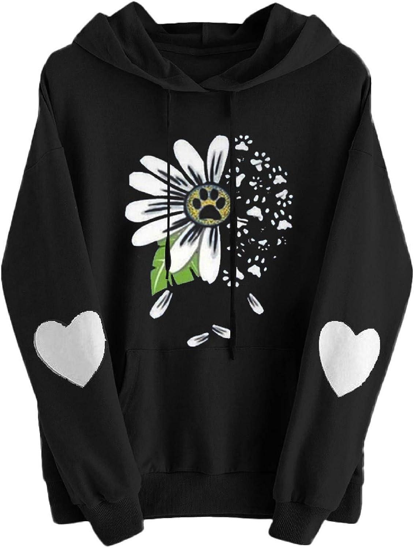 Hoodies for Teen Girls, Womens Cute Graphic Long Sleeve Hoodie and Sweatshirt Crewneck Loose Casual Pullover Tops