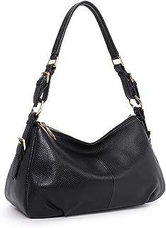Soft Leather Hobo Purse for Women, Genuine Vintage Shoulder Bag