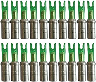 jiexi hwyp Large Groove Pin Arrow Nocks Aluminum Arrow Nock Adapter Connector for ID 6.2 mm Arrow Pack of 50