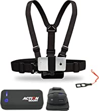 Action Mount Wearable Battery Setup and Chest Harness with Universal Phone Mount   5200mAh External Power Pack and Holster and USB Cords. Wear Your Phone, and Simultaneously Charge The Battery.