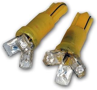 1 LED Yellow 2-pc Set TuningPros LEDBW-T5-Y1 Brake Warning LED Light Bulbs T5