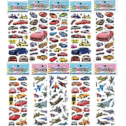 PMSMT 6 Hojas de Pegatinas de Aviones de Coche calcomanías de avión de Motocicleta Juguetes para niños niños computadora portátil Pegatina de vehículo en Bicicleta Nevera portátil