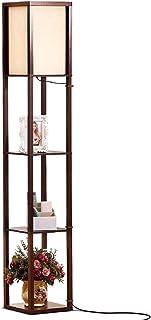 Brightech Maxwell – LED Shelf Floor Lamp – Modern Standing Light for Living..