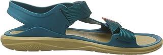 Crocs Men's Swiftwater Molded Expedition Open Toe Sandals, Green Juniper Tan 3tw, 11 UK Men 12 UK Women