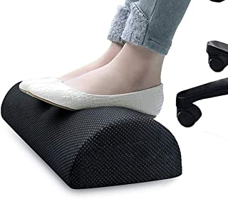 Office Foot Rest Under Desk: New Ergonomic Footrest Cushion w/Angled Half Cylinder Design for Optimum Leg Clearance: Firm,...