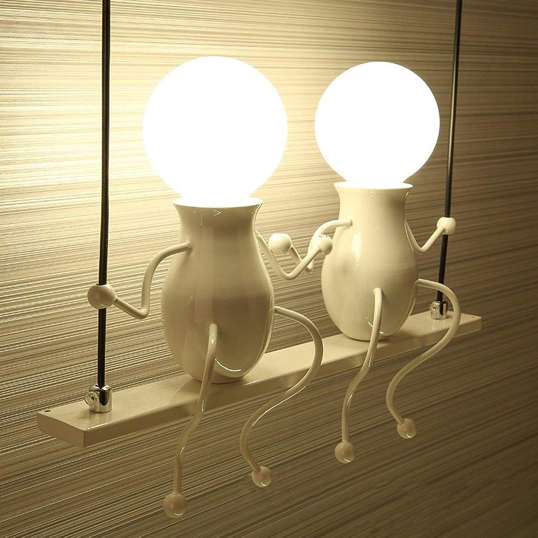 Wandleuchte,Kinder Wandleuchte einfache kreative Wohnzimmer Schlafzimmer Nachttischlampe Korridor gang Balkon Lampe (Farbe  Schwarz)