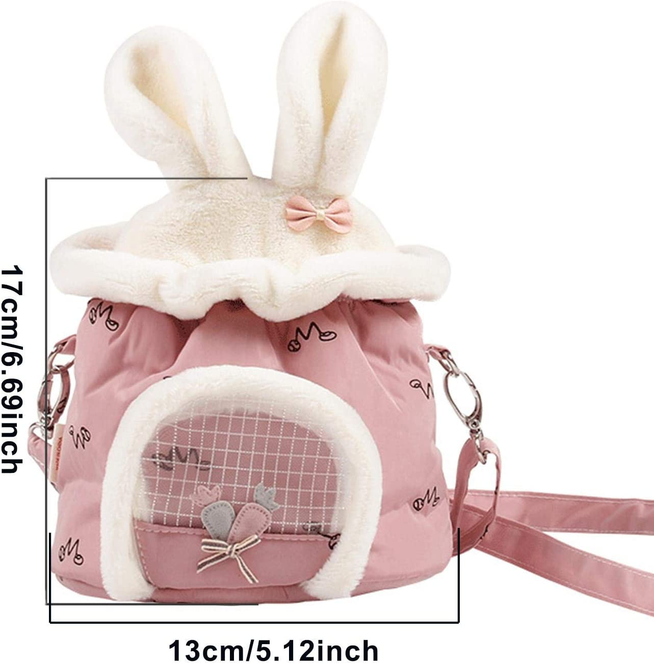 Portable Travel Handbag With Adjustable Single Shoulder Strap Single Bag For Hamster Small Pet Carrier Bag Hedgehog Sugar Glider Guinea Pig And Squirrel