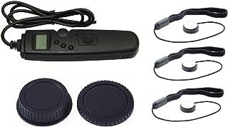 NinoLite 6点セット タイマー機能RS-60E3の互換品+レンズ キャップ ホルダー3個 +カメラ用キャップ 2個 TC1001_capholderX3_body&rear/C