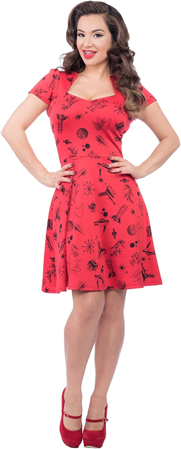 Steady Space Robot Dress in Red