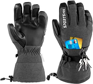Winter Ski Gloves,Waterproof Warm Snow Gloves with Touchscreen Cold Weather Gloves for Winter Sport Work Men and Women