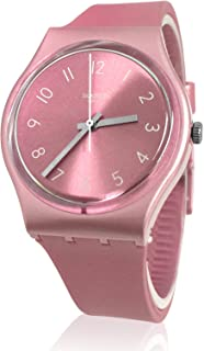 Swatch GP161 So Pink Sun Brushed Dial Shiny Metallic Band Watch