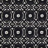 Fabulous Fabrics Spitze schwarz, Ornament, 150cm breit
