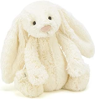 Jellycat Bashful Cream Bunny Stuffed Animal, Medium, 12 inches