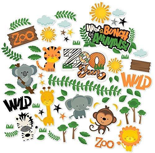 Paper Die Cuts - Zoo Fun - Over 60 Cardstock Scrapbook Die Cuts - by Miss Kate Cuttables