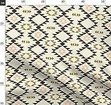 Aztekisch, Indigen, Geometrisch, Dreiecke, Braun, Indianer