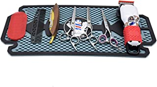 JTYX Barber Work Station Mat Anti-Slip Rubber Mat for Clippers Salon Tools, Countertop Protection Mat for Bar Service, Sink Mat, Beauty Salon Station Pads