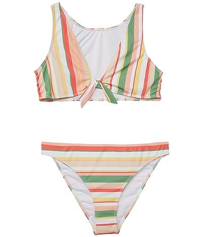 Roxy Kids Colorful Party Crop Top Set Swimsuit (Big Kids)