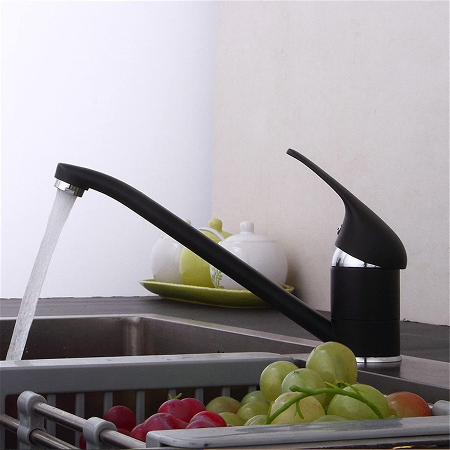 Decorry All Copper Kitchen Faucet Cold Drawable Telescopic Mixed Vegetables Basin Sink Faucet