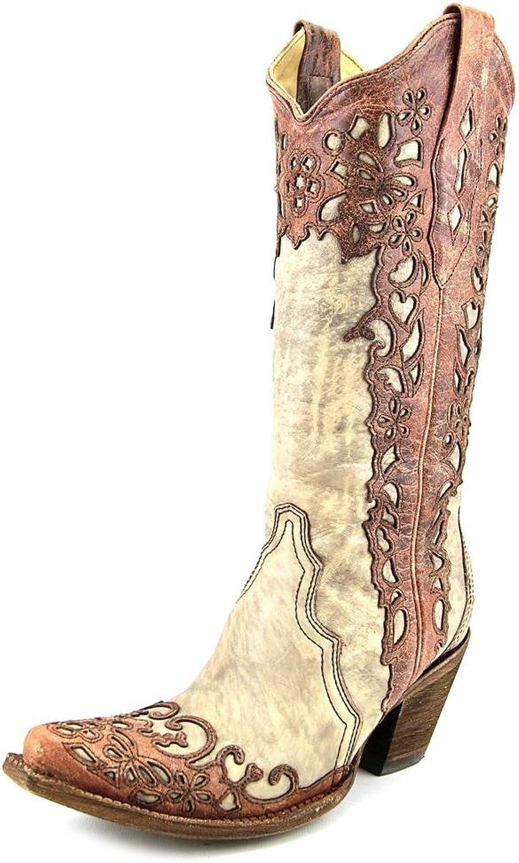 Corral Ladies Boot w  Laser Overlay