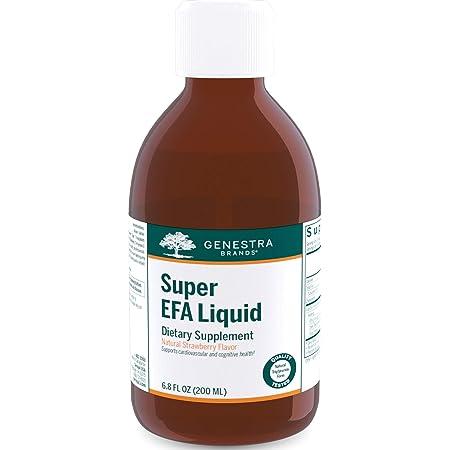 Genestra Brands - Super EFA Liquid - EFA Supplement to Support Cardiovascular, Brain, Eyes, and Nerves - 6.8 fl. oz. - Natural Strawberry Flavor
