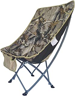 Image of WPL Folding Chair Portable Outdoor Folding Chair Light Moon Lounge Chair Suitable for Outdoor Travel Hunting Fishing Sports Lawn Chair Camping Chairs