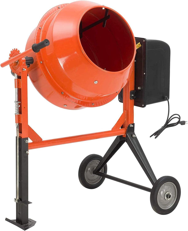 3/4HP Mortar Mixing Stucco Seeds Portable Barrow Machine 550W ...