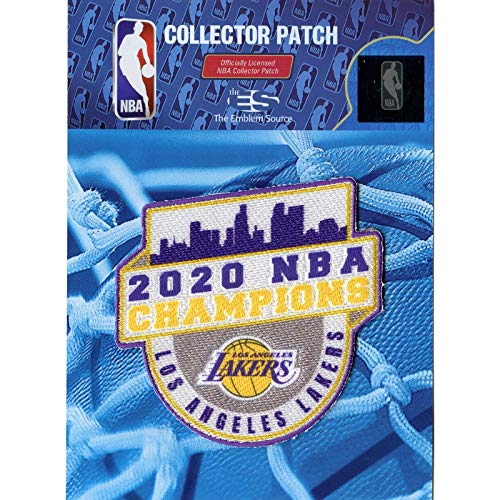 Emblem Source 2020 NBA Finals Champions Patch Jersey Los Angeles Lakers Run The Table