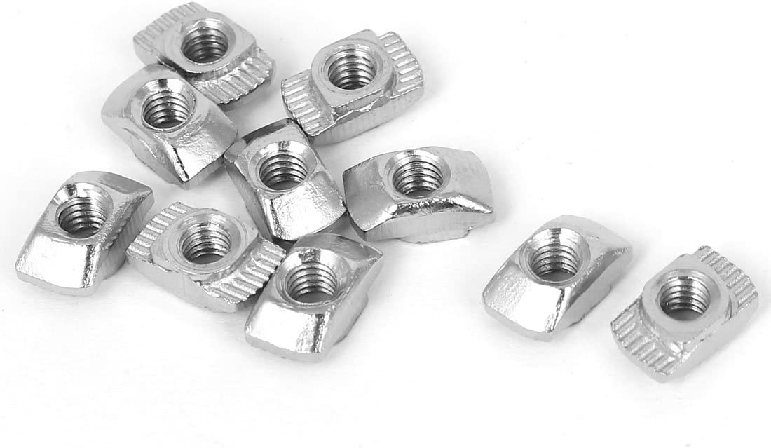 PZRT 2020 Series 50-Pack M4 Ha Steel Recommended Carbon T-Nuts New popularity Nickel-Plated