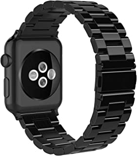 Simpeak Band Compatible with iWatch 38mm 40mm, Stainless Steel Wirstband Strap Replacement for iWatch Series 5 4 3 2 1, Br...