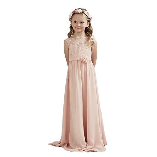 a8ccc76793987 Castle Fairy Flower Girl Dress Chiffon Flutter Sleeve Holy Communion Dress  Junior Bridesmaid Dress