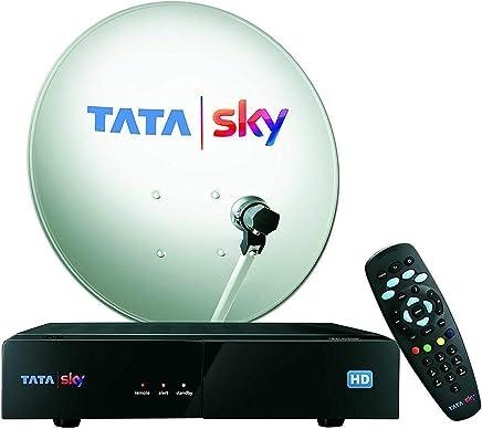 Tata Sky HD Set Top Box 1 Month Hindi Basic HD Pack (Black)