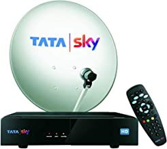 Tata Sky HD Set Top Box 1 Month Hindi Basic HD Pack (Black)