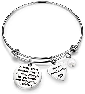 Coworker Leaving Gifts A Truly Great Mentor is Hard to Find Difficult to Part with and Impossible to Replace Bracelet Goodbye Gifts for Best Coworker Colleague and Boss