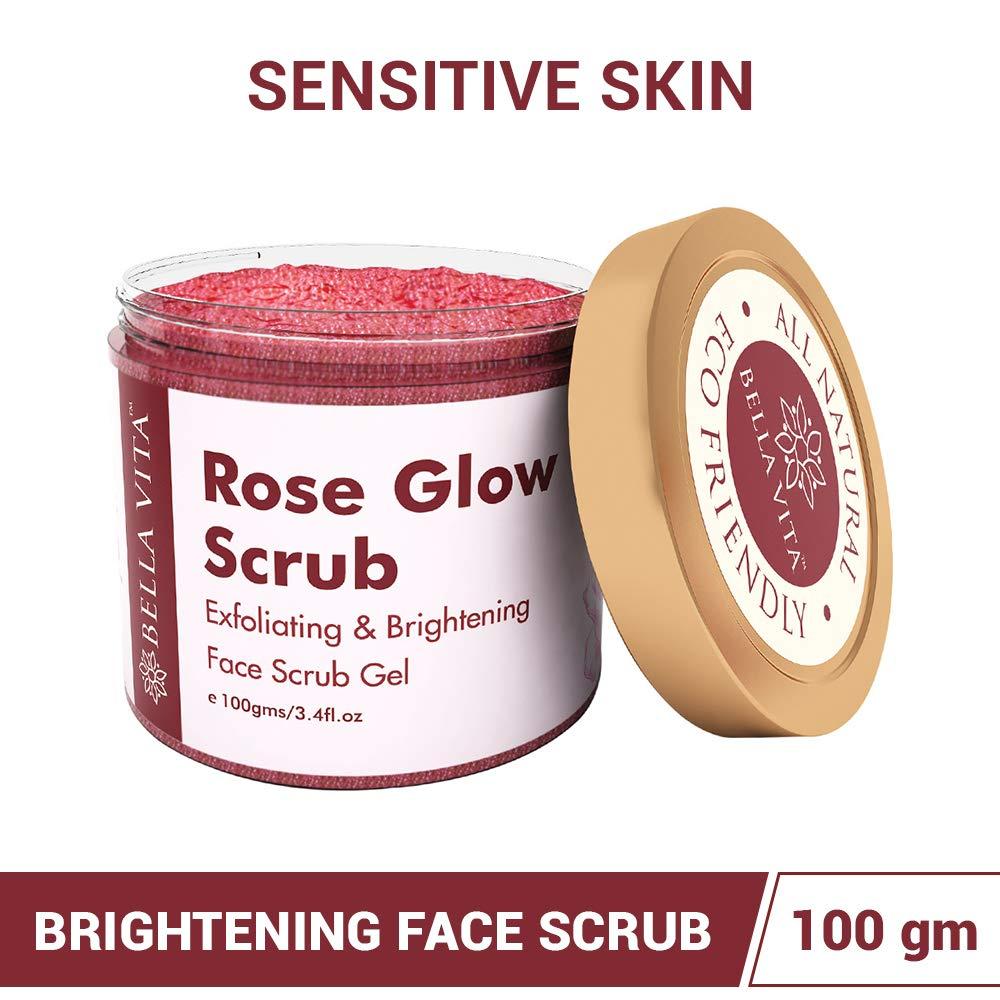 Bella Vita Organic Aloe Manufacturer OFFicial shop Rose Face Scrub Gel for S Glow Sensitive Under blast sales