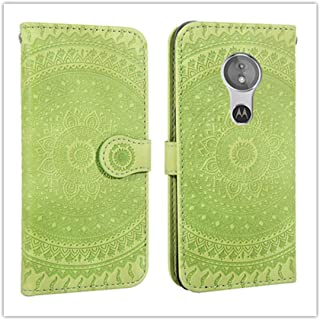 For Sony Xperia L2 Pressed Printing Pattern Horizontal Flip PU Leather Case with Holder & Card Slots & Wallet && Lanyard New (Gray) Zhangtender (Color : Green)