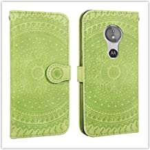 For Sony Xperia L2 Pressed Printing Pattern Horizontal Flip PU Leather Case with Holder & Card Slots & Wallet && Lanyard New (Gray) HuangFF (Color : Green)