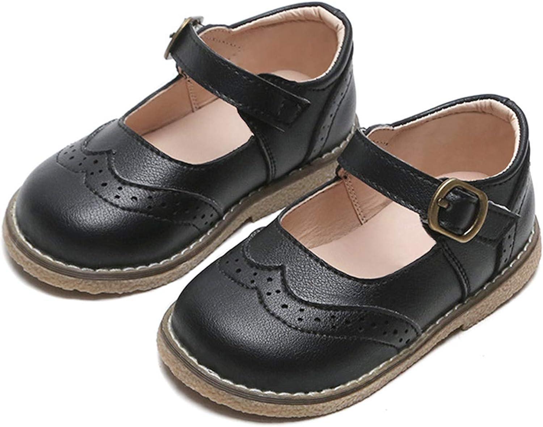 JABASIC Toddler Little Girl Mary Jane Dress Flats School Uniform Shoes