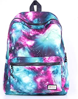 Galaxy Backpack, SKL Unisex School Bag Outdoor Daypack Laptop Bag Rucksack for Middle College Teen Boys Girls Travel Hiking (Green)