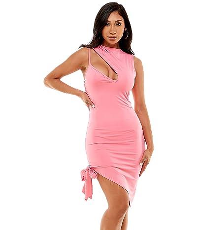 Bebe One Shoulder Midi Dress